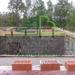 строительство дома из арболиа с облицовкой кирпичем